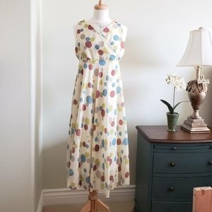 Rare polka dot flowy dress